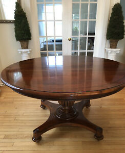 Round Expandable Dining Table Ethan Allen British Classics Wood