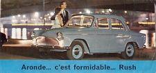 Simca Aronde P60 1961-62 UK Market Small Format Foldout Sales Brochure