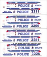 1/24 SCALE OTTAWA ONTARIO POLICE FOR FORD INTERCEPTOR SEDAN -  DOES 4 CARS