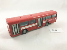 DINKY TOYS # 283 AEC RED ARROW SINGLE DECK BUS COACH DIECAST RED 1974 PLAY WORN