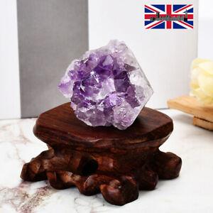 Irregular Natural Amethyst Druzy Quartz Cluster Geode Crystal Gem Specimen UK