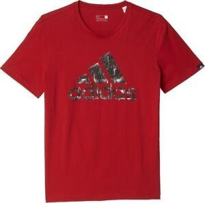 adidas Performance Urban Logo Tee Sizes S-M Red RRP £25 BNWT AY7228