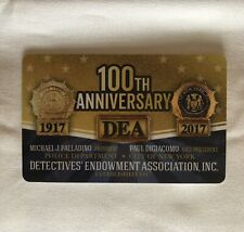 AUTHENTIC COLLECTIBLE BRAND NEW 100th ANNIVERSARY 2017 NYC DEA PBA CARD