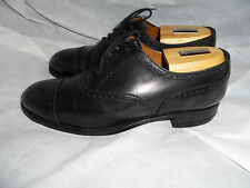 DUCKER & SON THE TURL OXFORD HAND MADE BLACK LEATHER LACE UP SHOE SIZE UK 7.5