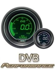 Prosport 52mm EVO Car BOOST 3 bar Gauge LCD Digital Display Green and White