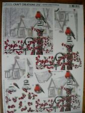 Beautiful Craft Creations Xmas Die Cut Toppers 'Robin on Railings' (259) M