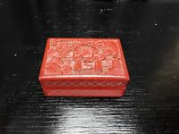 Antique Chinese Lacquered Carved Cinnabar Box