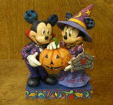 "Jim Shore Disney Traditions #4051978 MICKEY & MINNIE ""HALLOWEEN HOSTS"""