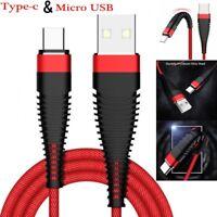 USB-C Type-C 3.1 & Micro USB  Schnellladekabel Ladekabel Für Samsung Android DE