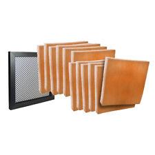 13 x 21-1/2 x 1 - (12) Merv8 Hvac Filter Pads Orange & Air Filter Frame