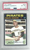 1971 Topps Roberto Bob Clemente Vintage Baseball Card #630 Pirates - EX-MT PSA 6