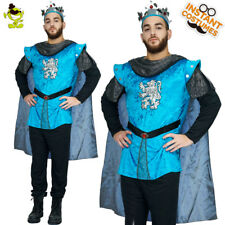 Men's Regal Kings Costume Adult Medieval Knight Outfit Gallant Kings Fancy Dress