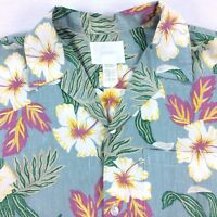 Vintage USA Made Howie Hawaiian Shirt Mens MEDIUM M Floral Surf Beach Island VTG