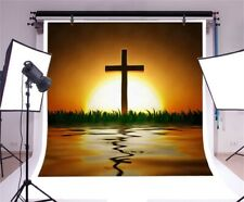 Sunset Or Sunrise With Cross Photography Background Studio Camera Backdrop 10x10