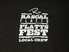 Xl Rascall Flatts Band Concert Tour Staff Local Crew Country Brown Shirt Tshirt