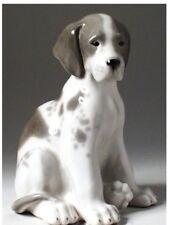 Lomonosov Porcelain Figurine Puppy Dog AUTHENTIC RUSSIAN 6 1/4 inches high