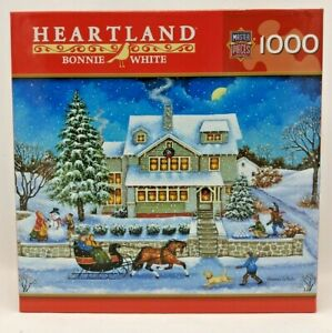 Snowballed by Bonnie White Heartland 1000 Pc Puzzle Master Pieces Rare!