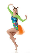 Allegria Dance Costume Leotard and Shorts with Backskirt Tap Jazz  Adult Small