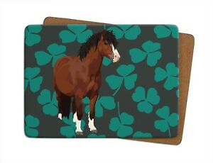 Pony Table Mat | Leslie Gerry, Placemat, Cork-backed