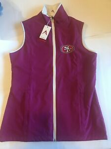 San Francisco 49ers Women's Vest Antigua Small/Large Pink New Golf Tennis NWT