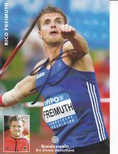 Rico FREIMUTH - Deutschland, Silber WM 2017 Leichtathletik, Original-Autogramm!