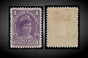 1901 NEWFOUNDLAND QUEEN MARY AS DUCHESS OF YORK 4C VIOLET HINGED SCT.84 SG.89