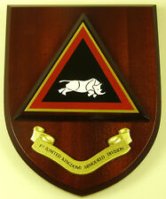 UK 1ST ARMOURED DIVISION CLASSIC HAND MADE REGIMENTAL MESS PLAQUE