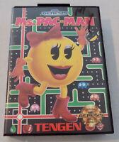 Ms. Pac-Man Sega Genesis Video Game 1991 with Original Case and Manual