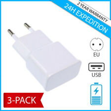 3-PACK FOR SAMSUNG IPHONE USB MURAL CHARGEUR PRISE WALL CHARGING PLUG CHARGER