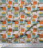 Soimoi Stoff Baumhaus architektonisch Meterware bedrucken - AT-517F