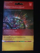 Adobe CC Creative Cloud All Apps 12 mth Membership  inc. Photoshop and InDesign