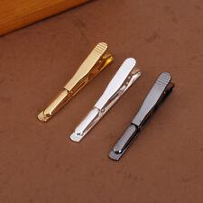PEGGIE 3pcs Men Tie Bar Pinch Clip Tension Clasp Necktie Pin - Silver Gold Black