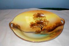 """NORITAKE TREE IN THE MEADOW VEGETABLE SERVING BOWL OVAL 10"""" RED MARK"""
