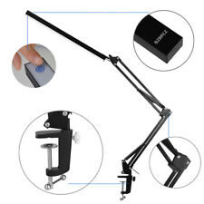 LED 6000K Desk Light Lamp w/Clamp Dimmable 8W Adjustable Swing Arm Touch Control