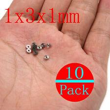 10pcs 681zz 1x3x1mm Miniature Mini Ball Bearings Metal Open Micro Bearing