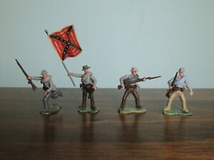 HTF confederate soldiers, 54mm swoppet type, group 1