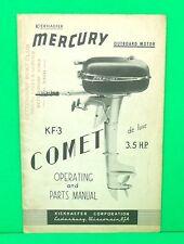 Original 1949 Kiekhaefer Mercury KF-3 COMET Operating & Parts / Owners Manual
