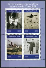 Chad 2019 CTO Winston Churchill 4v M/S Famous People Military Aviation Stamps
