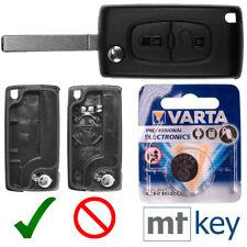2 botones plegable cubierta clave VA2 Peugeot 407 partner Berlingo de Citroen C2 C3