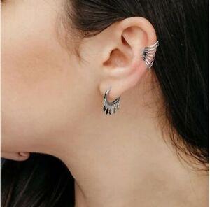 Sterling Silver Single Ear Cuff Non pierced clip on cuffs geometric minimalist