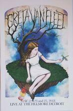 Greta Van Fleet Poster Fillmore Detroit 2018 11x17 Limited Hand Numbered 124/300