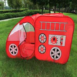 Polyester Tent Playhouse Indoor Outdoor Games Fire Truck Car Kids Tent