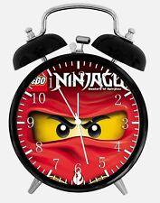"Lego Ninja Ninjago Alarm Desk Clock 3.75"" Home or Office Decor X61 Nice For Gift"