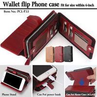 PIERRE CARDIN Detachable Wallet Pouch Case Stand for iPhone X/8 Plus/7 Plus/6s