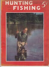 Vintage April 1941 Hunting and Fishing magazine dogs boating guns woodcraft