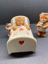 New listing Vintage Lucy & Me Bear-Enesco-1979-80 2 figures nurse & sick in bed