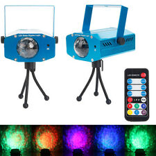 New 9W Remote RGB LED Water Wave Projector Party DJ Bar Effect Stage Lamp Light