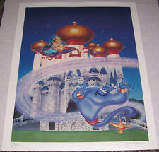 ALADDIN ~ ARTIST SIGNED LIMITED  EDITION DISNEY LITHOGRAPH ~John Hamagami