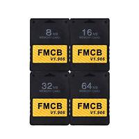 Carte mémoire 8 Mo/16 Mo / 32 Mo/64 Mo pour PS2 FMCB Free MCboot Version v1.966