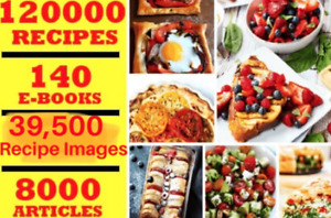PLR articles and digital books on 120,000 recipes instantly